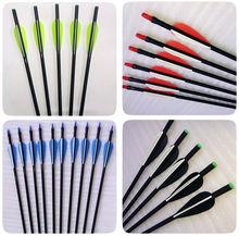 High quality target arrows archery, archery carbon arrows, carbon fiber arrows