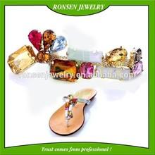 2015 metal rhinestone buckles for ribbon
