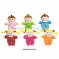 Handmade macio brinquedo de pelúcia chocalho animal plush baby toy