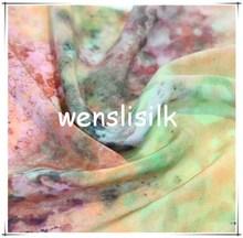 elastane crepe silk / elastane silk crepe pure silk crepe fabric