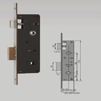 CJ-7012 Locks for aluminum doors outward opening door locks one way door locks