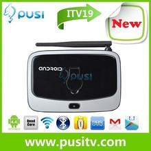 PUSI 2015 new arrival CS918/Q7S Android smart TV box Quad core RK3188 RAM 2GB ROM 8G Media Player Mini PC built-in Camera