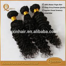 Fuxin 2015 Raw Unprocessed Virgin Indian Hair,Virgin Indian Deep Curly Hair