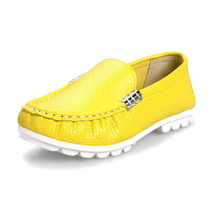 children leather fashion leisure casual moccasin-gommino shoes for tideway kids boys and girls