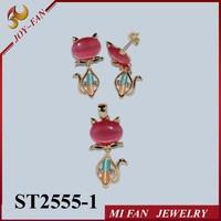 Cat jewelry sets 18K plated myanmar jewellery