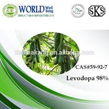 GMP & ISO L-dopa Mucuna Pruriens Extract/Mucuna pruriens seed extract/98% Levodopa ,levodopa powder,CAS#59-92-7