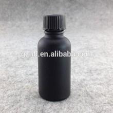 Boston round glass e liquid bottle plastic black screw cap matt rubber sharp dropper fany bottles