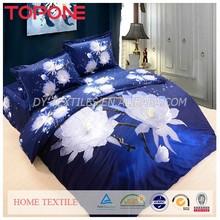 New design oem competitive price elegant reactive cotton 3d bed sheet