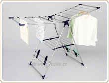 Multi-purpose balcony folding clothes display rack