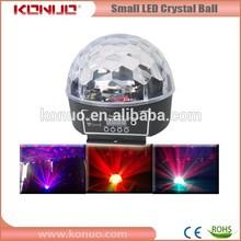 Konuo toptan led disko ışık/led parti ışık/6x3W rgbwa+uv disko topu ışık 12v