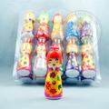 boneca japonesa de garrafas de plástico de brinquedo com doces