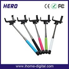 New products 2015 innovative design foldable selfie stick/pocket selfie stick