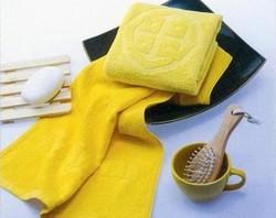 Organic bamboo jacquard beach towels