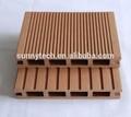 Decking de wpc/revestimento exterior/composto plástico de madeira