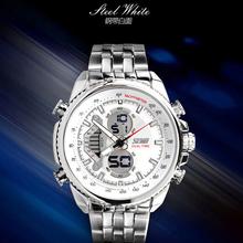 skmei sport brand men 316stainless steel band 30m water resistant japan quartz digital movement military wholesale luxury watch