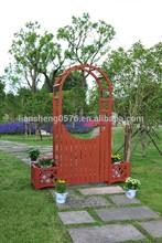 Wooden garden arch with planters ALS-7103