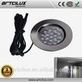 Shenzhen fabricación de luz led de disco, cocina luminarias de cromo