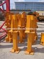 Grue à tour angle de fixation, fondation de base, pièces de rechange de grue à tour