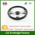 china proveedor de oro 13 pulgadas del coche de dirección de la rueda del automóvil modificado carrera de momo de cuero de la pu de la rueda de dirección del coche accesorios del producto