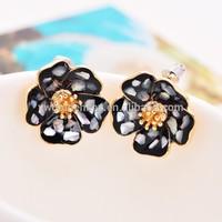 2015 spring hot selling ,colorfull flower earring , beautiful stud earring