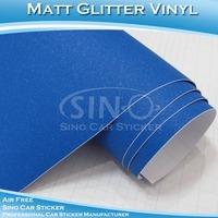 Attractive Matt Diamond Glitter Blue Car Decoration Film Car Dashboard Material
