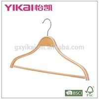 Modern round bar and PVC tube shirt and pants laminated clothes hanger