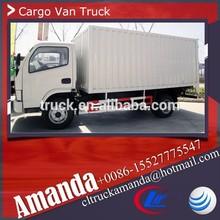 Dongfeng 4*2 small cargo van body, 4 ton used electric cargo van