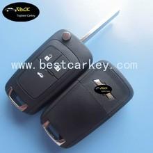 Best price folding remote key case HU100 3button flip remote key case for Chevrolet remote key with 433 mhz,id46chip