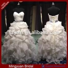 DL-189 Real Sample Organza Wedding Dress 2015 Ball Gown patterns