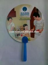 Hot sales promotional popular die cut shape plastic hand fans sticks