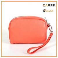 PU leather wristlet woman clutch bag