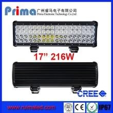 Quad row 17 inch led light bar! DC 9-32V offroad 216W led light bar for sandy driving lighting