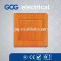 2015 luz design de moda 1 switch gangue uma maneira ou 2 maneira interruptor da luz de cor de madeira