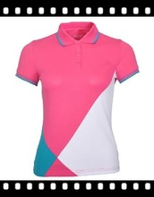 Most popular wholesale ladies sport patch sport wear polo t shirt