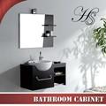 Hs-ce819 800*520mm küçük yuvarlak lavabo siyah renkli katı ahşap dolap