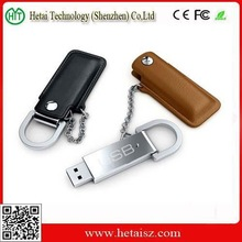 Metal USB 3.0 Flash Drives Flash Memory Stick Pen Drive with Leather Case