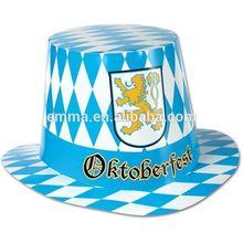 White and blue german felt oktoberfest hat fashion bavarian hat for beer festival HT4220