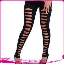 Wholesale Erotic Black Stripe Sexy Leggings Girls Pics