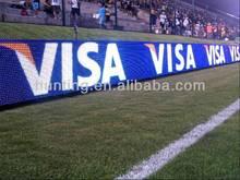 Alibaba China sports led display basketball/football stadium perimeter advertising led display board