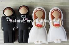 Wedding USB flash drive, Bride & Groom design USB pen drive 2GB 4G 8GB 16GB wedding gifts USB disk