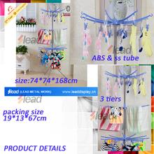20 pegs plastic dryer shelf, plastic socks rack