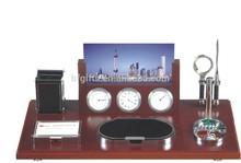 Fashion desktop pen holder alarm clock desktop penholder