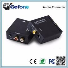 Factory Digital Optical Coaxial audio to Analog RCA+3.5mm earphone Audio Converter