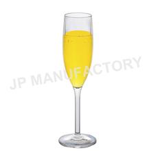Tulipe- en forme de verre de champagne en plastique dur
