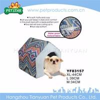 New soft plush small folding corrugated pet house
