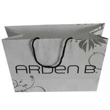 Eco-friendly 40% PCW retail paper shopping bags