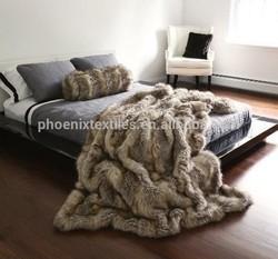 alibaba china wholesale minky faux fur throw blanket