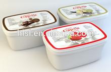 Plastic IML ice cream containers