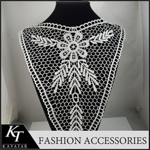 Lace high neck collar neck designs for ladies tops