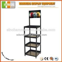 customized metal beverage& wine metal display shelf, shelving